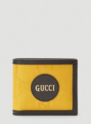 Gucci Eco-Nylon Bi-Fold Wallet in Yellow
