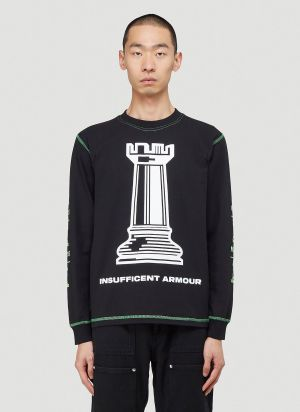United Standard Insufficient Armour Long-Sleeved T-Shirt in Black
