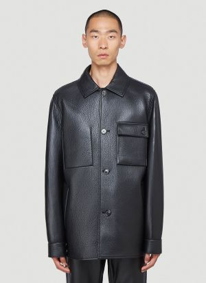 Acne Studios Leather Jacket in Black