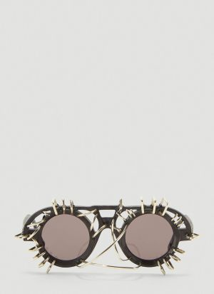 Kuboraum Mask T10 Embellished Sunglasses in Black