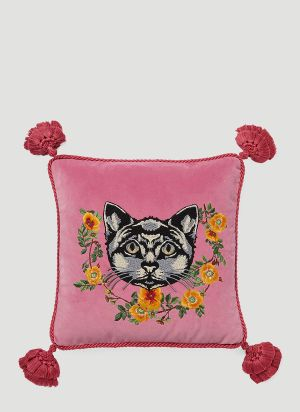 Gucci Cat Cushion in Pink