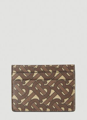 Burberry TB Monogram Card Holder in Brown