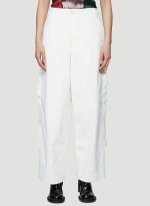 ASAI Contrast Cord Pants in White