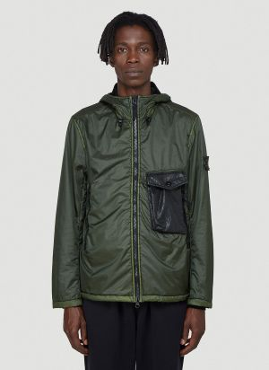 Stone Island Lany Flock Jacket in Green