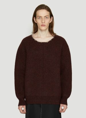 Maison Margiela Knitted Sweater in Red