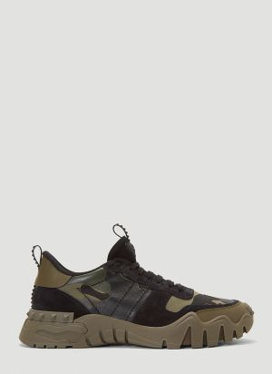 Valentino Rockrunner Plus Sneakers in Green