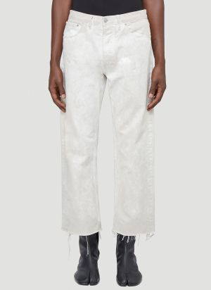 Maison Margiela Wide-leg Bleached Jeans in White