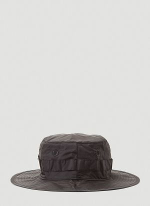 Acne Studios Logo-Plaque Nylon Hat in Black