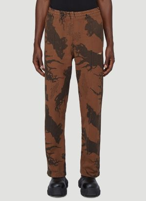 Phipps Graphic Track Pants in Brown