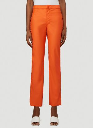 Maisie Wilen Straight Leg Pants in Orange