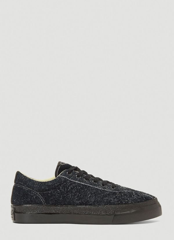 S.W.C Dellow Hairy Suede Sneakers in Black