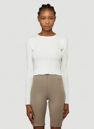 artica-arbox Knitted Sweater in White