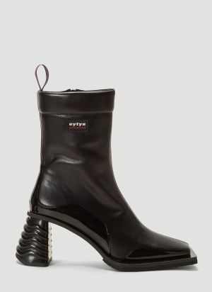 Eytys Gaia Leather Boots in Black