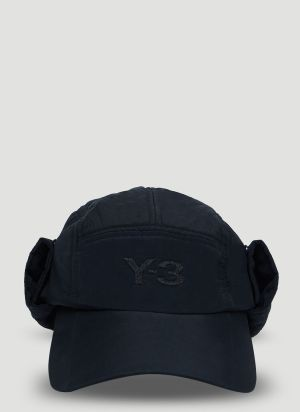 Y-3 Neckflap Cap in Black