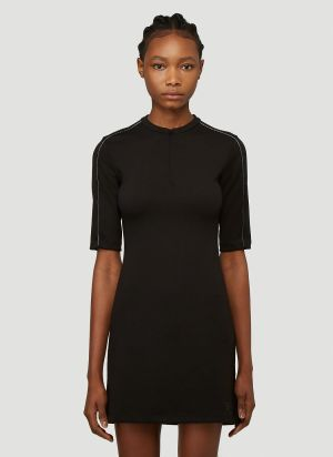artica-arbox Piping Dress in Black