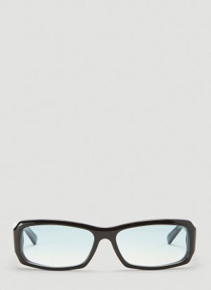 Andy Wolf Omar Rectangular Sunglasses in Black