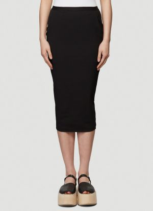 Rick Owens Soft Pillar Skirt in Black