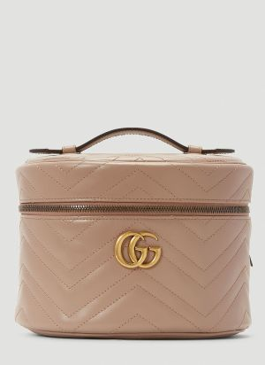 Gucci GG Marmont Cosmetic Case in Beige