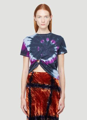 Collina Strada Tie-Dye Ring T-Shirt in Purple
