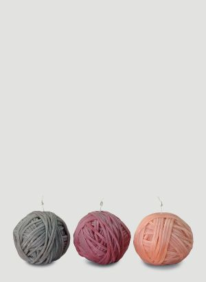 Missoni Home Three-Pack Gomitolo Candles in Orange