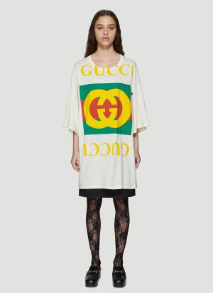 Gucci Oversized Logo T-Shirt in White