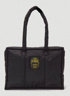 Vyner Articles Logo-Patch Tote Bag in Black