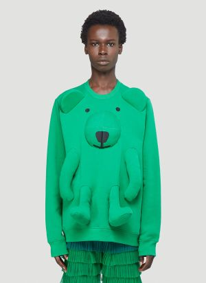 Walter Van Beirendonck Bear Sweatshirt in Green