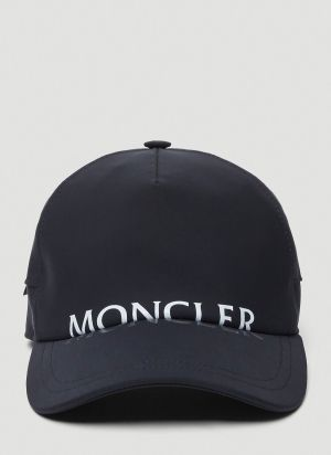 Moncler Logo Cap in Black