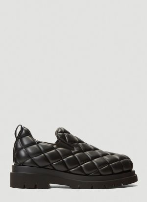 Bottega Veneta Quilted Slip-On Shoes in Black