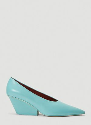 CAMPERLAB Juanita Wedge Pumps in Blue
