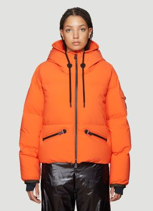 Moncler Grenoble Hooded Down Jacket in Orange