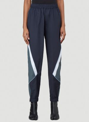 Martine Rose Panelled Track Pants in Blue