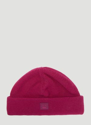 Acne Studios Kansy Knit Hat in Pink