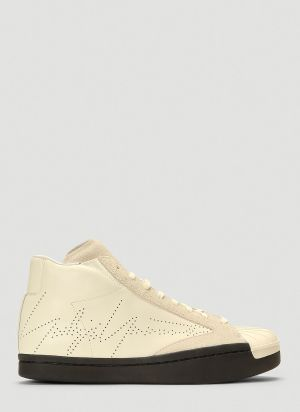 Yohji Yamamoto Superstar Skate Mid-Top Sneakers in White