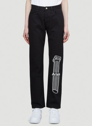 Aries Column Lily Jeans in Black
