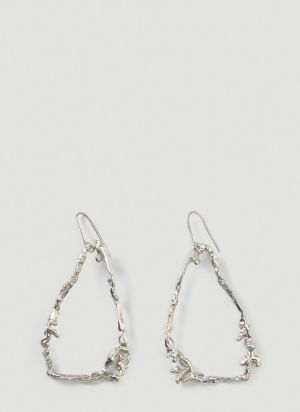 Vasiliki by Kiki XL Hoop Earrings in Silver