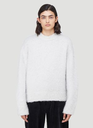 Eytys Lasky Textured-Knit Sweater in Grey