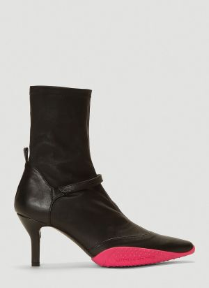Marine Serre Pointed-Toe Ankle Boots in Black