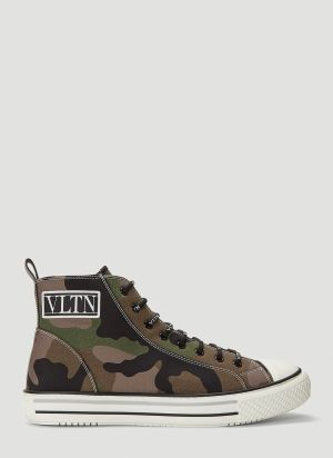 Valentino Giggies High-Top Sneakers in Green