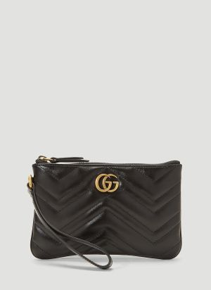 Gucci GG Marmont Wrist Wallet in Black