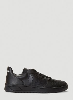 Veja V-10 CWL Faux-Leather Sneakers in Black