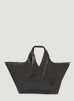 MM6 Maison Margiela Faux-Leather Tote Bag in Black