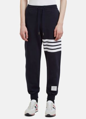 Thom Browne 4 Bar Jersey Track Pants in Blue