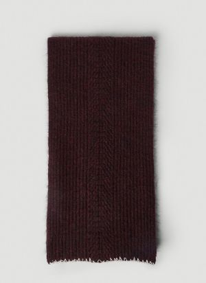 Maison Margiela Knitted Scarf in Red