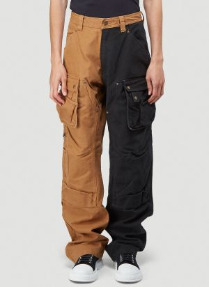 (D)ivision Reworked Carhartt Pants In Beige