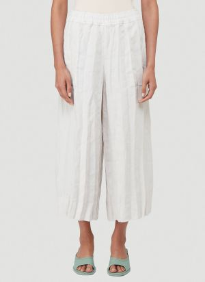 Acne Studios Crinkle-Effect Pleated Pants in White