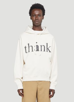Gucci Think Thank Hooded Sweatshirt in White