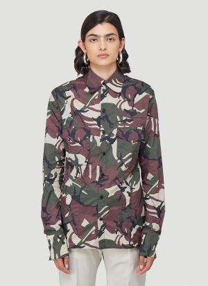 Kwaidan Editions Camouflage-print Shirt in Green