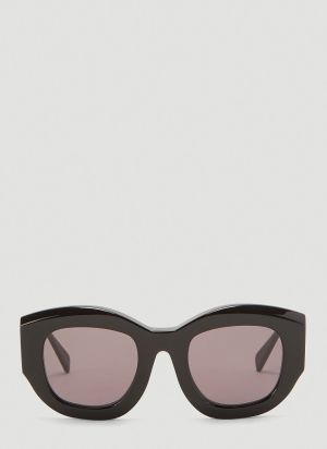 Kuboraum Mask B5 Oversized Round Sunglasses in Black