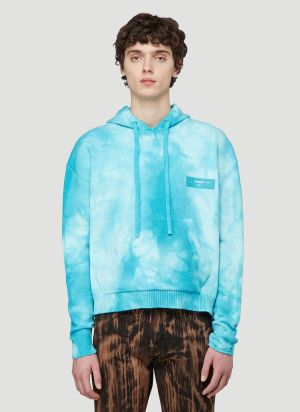 Off-White Tie-Dye Hooded Sweatshirt in Blue